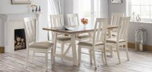 Pembroke Ivory & Welsh Oak Table & 6 Chairs